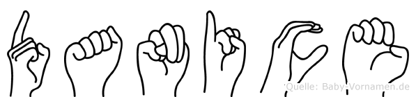 Danice im Fingeralphabet der Deutschen Gebärdensprache