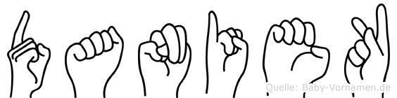 Daniek in Fingersprache für Gehörlose