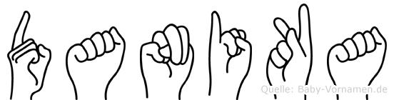 Danika im Fingeralphabet der Deutschen Gebärdensprache