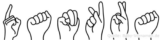 Dankra im Fingeralphabet der Deutschen Gebärdensprache
