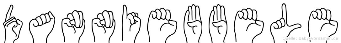 Danniebbele im Fingeralphabet der Deutschen Gebärdensprache