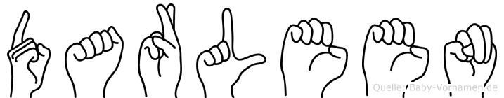 Darleen in Fingersprache für Gehörlose