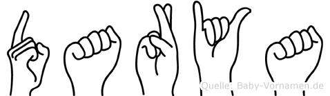 Darya im Fingeralphabet der Deutschen Gebärdensprache