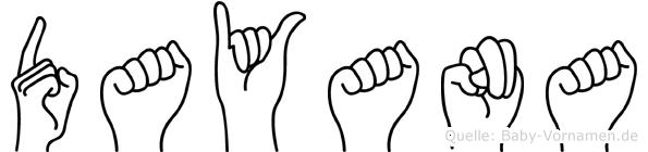 Dayana in Fingersprache für Gehörlose