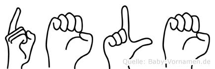 Dele im Fingeralphabet der Deutschen Gebärdensprache