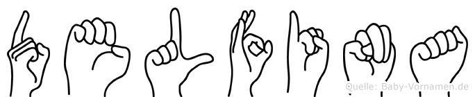 Delfina in Fingersprache für Gehörlose