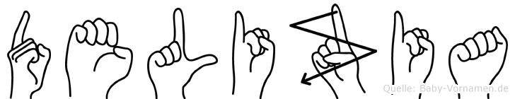 Delizia in Fingersprache für Gehörlose
