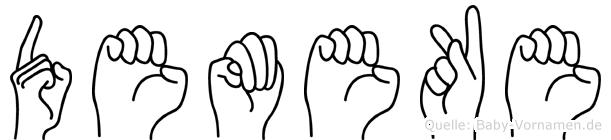 Demeke in Fingersprache für Gehörlose