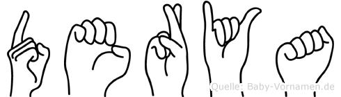 Derya im Fingeralphabet der Deutschen Gebärdensprache