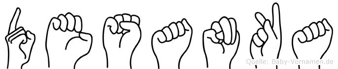 Desanka in Fingersprache für Gehörlose