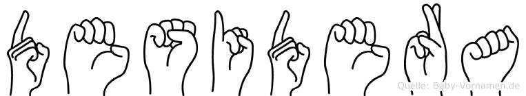 Desidera im Fingeralphabet der Deutschen Gebärdensprache