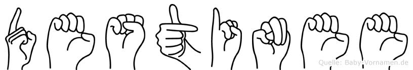 Destinee in Fingersprache für Gehörlose