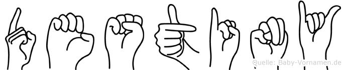 Destiny in Fingersprache für Gehörlose