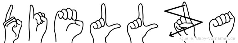 Diellza im Fingeralphabet der Deutschen Gebärdensprache