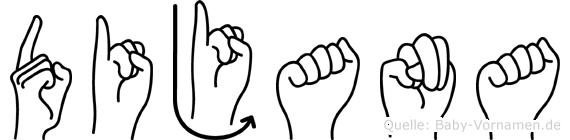 Dijana in Fingersprache für Gehörlose