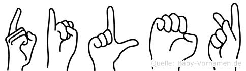 Dilek im Fingeralphabet der Deutschen Gebärdensprache