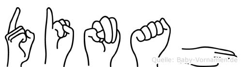 Dinah in Fingersprache für Gehörlose