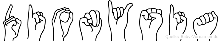 Dionysia in Fingersprache für Gehörlose