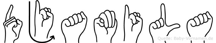 Djamila in Fingersprache für Gehörlose