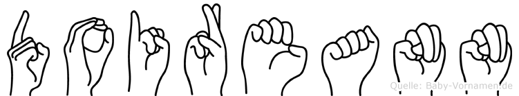 Doireann im Fingeralphabet der Deutschen Gebärdensprache