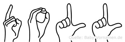 Doll in Fingersprache für Gehörlose