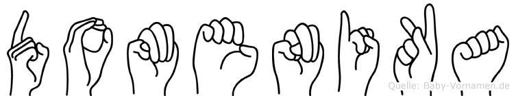 Domenika in Fingersprache für Gehörlose