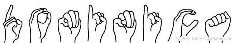 Dominica in Fingersprache für Gehörlose