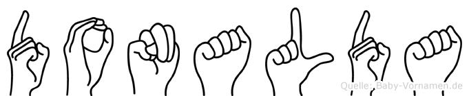 Donalda im Fingeralphabet der Deutschen Gebärdensprache