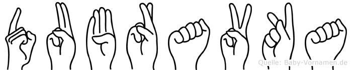Dubravka im Fingeralphabet der Deutschen Gebärdensprache
