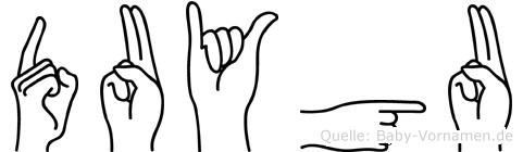 Duygu in Fingersprache für Gehörlose