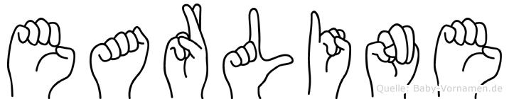Earline im Fingeralphabet der Deutschen Gebärdensprache