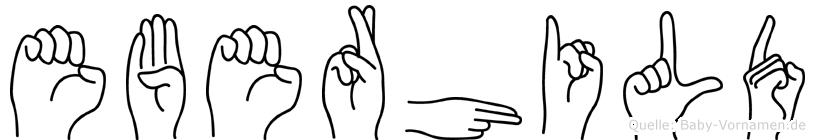 Eberhild im Fingeralphabet der Deutschen Gebärdensprache