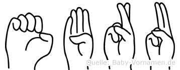 Ebru im Fingeralphabet der Deutschen Gebärdensprache