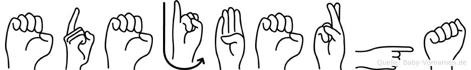Edejberga in Fingersprache für Gehörlose