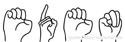 Eden in Fingersprache für Gehörlose