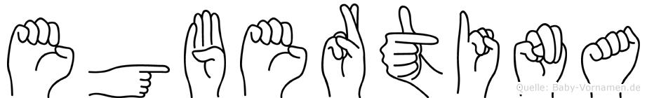 Egbertina in Fingersprache für Gehörlose