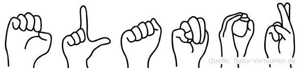 Elanor im Fingeralphabet der Deutschen Gebärdensprache