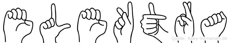 Elektra im Fingeralphabet der Deutschen Gebärdensprache