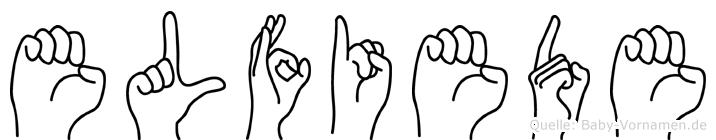 Elfiede im Fingeralphabet der Deutschen Gebärdensprache