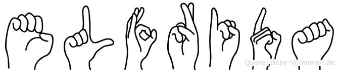 Elfrida in Fingersprache für Gehörlose