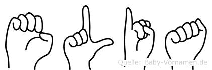 Elia in Fingersprache für Gehörlose