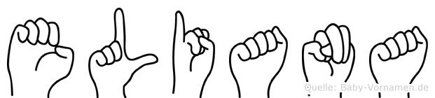 Eliana in Fingersprache für Gehörlose