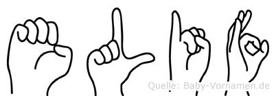 Elif in Fingersprache für Gehörlose