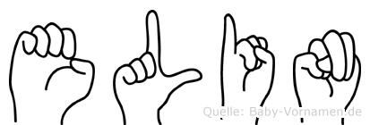 Elin im Fingeralphabet der Deutschen Gebärdensprache