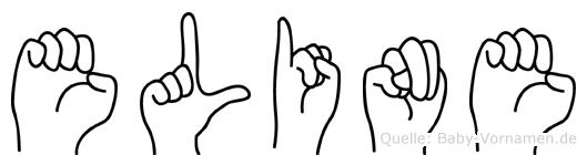 Eline in Fingersprache für Gehörlose