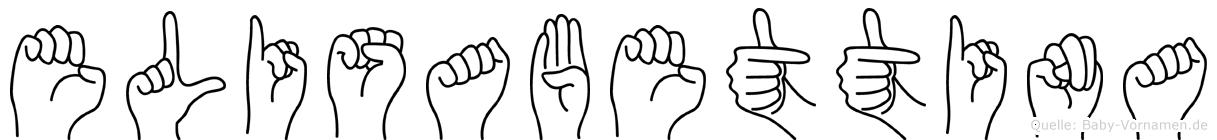 Elisabettina in Fingersprache für Gehörlose
