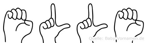 Elle im Fingeralphabet der Deutschen Gebärdensprache