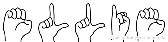 Ellie in Fingersprache für Gehörlose