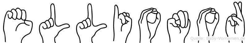 Ellionor im Fingeralphabet der Deutschen Gebärdensprache
