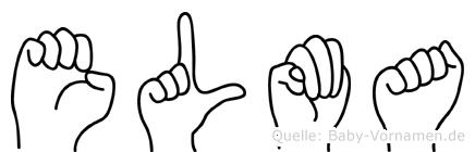 Elma in Fingersprache für Gehörlose